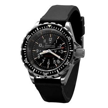 Marathon Tsar Swiss Made Military Issue Milspec Diver's Quartz Watch with Tritium Illumination and Sapphire Crystal (41 mm, US Government) WW194007