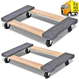 Set of 2 Movers Dolly 18' x 30' Heavy Duty Swivel Caster Furniture & Appliance Carpeted Wood 1000 lb Capacity (2 Pack)