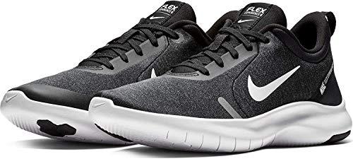 Nike Women's Flex Experience Run 8 Shoe, Black/White-Cool Grey-Reflective Silver, 8.5 Regular US