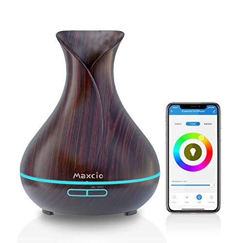 Maxcio WiFi Difusor Aromaterapia, Humidificador Ultrasónico Aceites...
