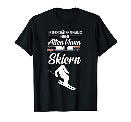 Ski Opa Skifahrer der Skifahren & Wintersport mag Geschenk T-Shirt