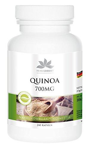 Quinoa 700mg de herba direkt – 240 cápsulas – tratamiento para 80 días