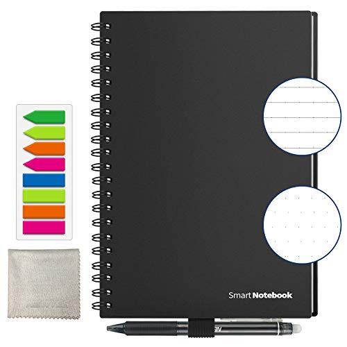 Cuaderno inteligente Reutilizable, Tamaño A5 Borrable Cuaderno...