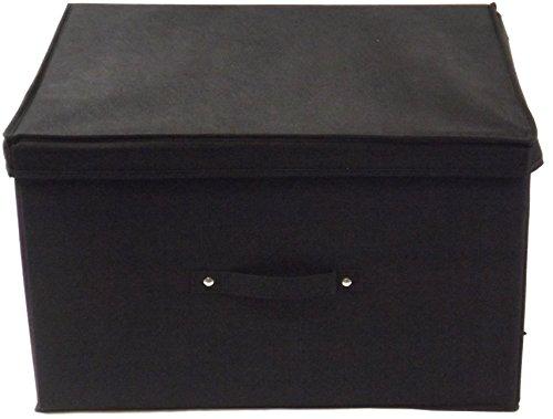 Neusu Jumbo XL Scatola Di Deposito, Pieghevole, Nera E Resistente - 50x40x30 cm (Capacit Di 60...