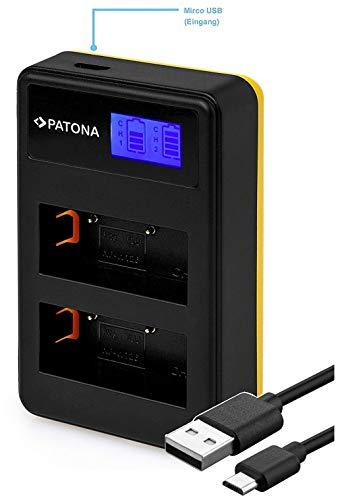 Patona 181957 - Caricatore LCD Dual (USB) per batteria Fujifilm NP-W126