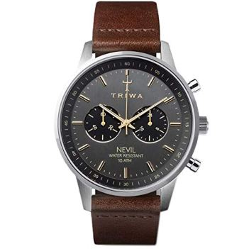 TRIWA Nevil Men's Minimalist Watch – Chronograph Wrist Watches for Men, 42mm