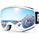 Ski Goggles, Findway 100% UV Protection Snow Goggles For Men, Women & Youth, OTG Design Helmet...