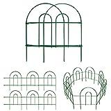 Amagabeli Decorative Garden Fence 18in x50ft Rustproof Green Iron Landscape Wire Folding Fencing...