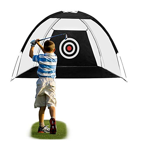 FUNME Golf Hitting Net with Target Sheet Golfing Portable Training Aids Driving Range for Outdoor and Indoor with Carry Bag and Golf Balls (Black, 6.6ft)