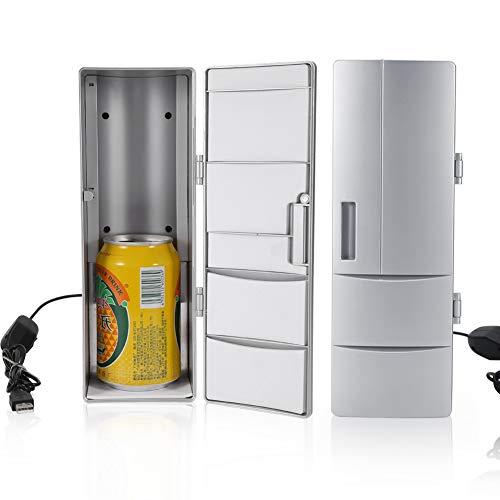 Mini frigorifero portatile, mini frigo USB compatto Lattine per congelatore Bere birra Dispositivo...