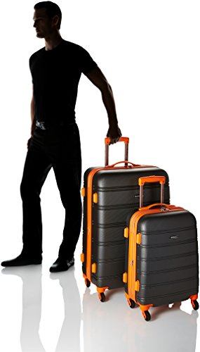 Product Image 3: Rockland Melbourne Hardside Expandable Spinner Wheel Luggage, Charcoal, 2-Piece Set (20/28)