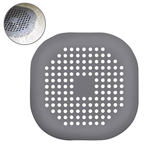 Zorara Abflusssieb für Duschen, Waschbecken Filter, 2 STÜCKE Waschbecken Sieb Silikon Drain Sieb Kanalfilter Wasser Stopper für Küche Bad, 2 Stück, Grau/Weiß