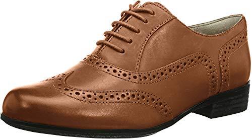 Clarks Hamble Oak - Zapatos de Cordones de cuero Mujer, Dark Tan Leather, 39