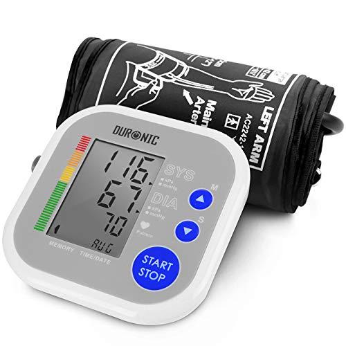 Duronic BPM080 Misuratore di pressione sanguigna da braccio automatico manicotto 22-42 cm...