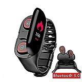 ORMELL. ELEXTOR Earbuds SmartWatc 2020 New, Fitness Tracker, Smartwatch, Fitness Bracelet (Red)