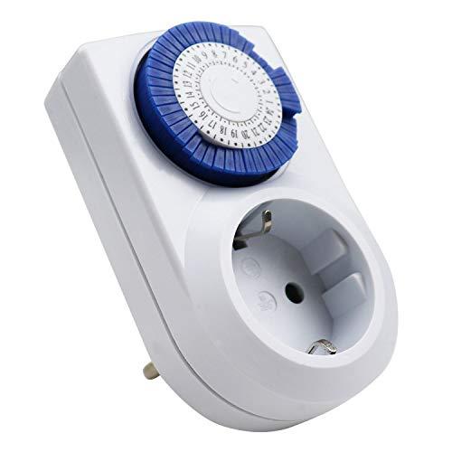 ExtraStar Enchufe eléctrico temporizador digital mecánico de 24...
