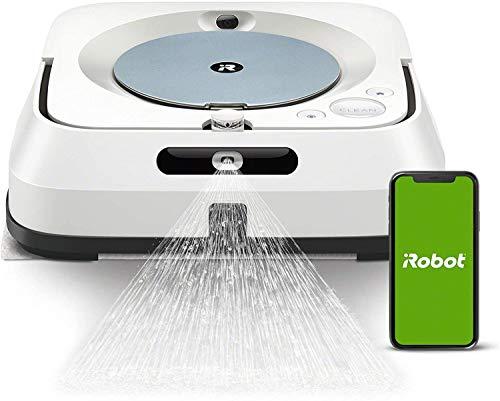 iRobot Braava Jet m6134 Robot Laveur de Sols Premium, Connecté, avec Pulvérisateur d'Eau et...