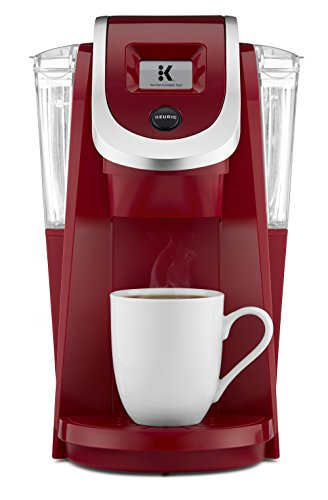 Keurig K250 Coffee Maker, Single Serve K-Cup Pod Coffee Brewer, With Strength Control, Imperial Red