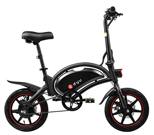 Vélo électrique pliant Dyu D3F, roues de 14 ', kilométrage de 25 km / h et 20 km, vélo électrique avec pédales, 36V 6Ah