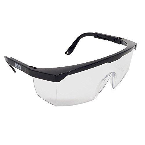 Occhiali Protettivi trasparente 1 pezzo con staffa regolabile secondo EN166 Protezione degli...