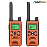 floureon Walkies Talkies Two Way Radio Long Range 22 Channel 3000M (MAX 5000M) USB Cable Charging Walkie Talkies for Kids and Adults 2 Pack for Outdoor Adventures Camping Hiking