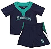 100% polyester Embroidered fabric applique; Raglan sleeves Crew neck with two button snap Officially licensed by the MLB