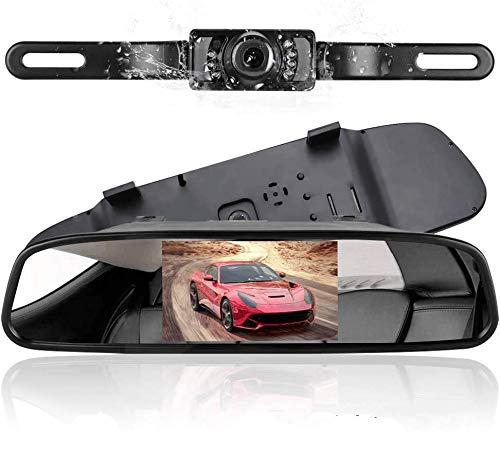 Telecamera di backup senza fili Podofo con monitor da 4,3 'TFT LCD Retrovisione Visione notturna della fotocamera Reverse Camera