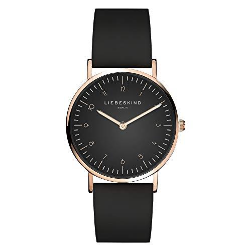 Liebeskind Berlin Damen Analog Quarz Uhr mit Leder Armband LT-0197-LQ