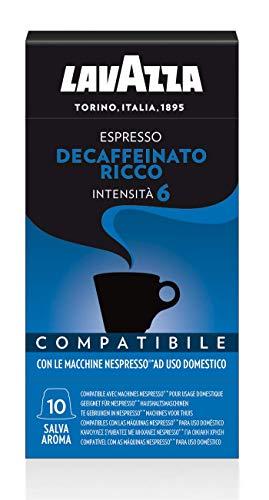 Lavazza Espresso Decaffeinato Ricco - 10 Confezioni da 10 Capsule