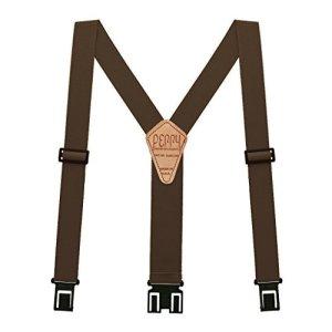 Perry Hook-On Belt Suspenders Regular – The Original – Brown – 1.5″W x 48L