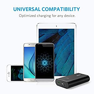 Anker PowerCore+ 10050 Premium Aluminum Portable Charger with Qualcomm Quick Charge 3.0, 10050mAh Power Bank with PowerIQ Technology for iPhone, iPad, Samsung Galaxy, Android Phones and More