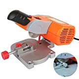 Ezeruier Mini cortadora de escritorio eléctrica, sierra ingletadora de procesamiento de alta precisión, sierra industrial de procesamiento, con hoja de sierra de corte de acero de 50 mm, utilizada par