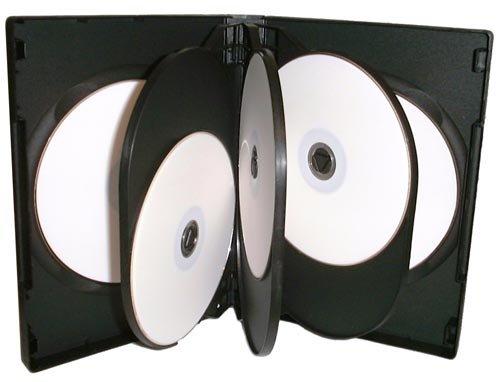 5 custodie da 8 posti per cd e dvd, spessore 27mm con tasca trasparente per copertina
