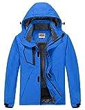 WULFUL Men's Waterproof Ski Jacket Warm Winter Snow Coat Mountain Windbreaker Hooded Raincoat