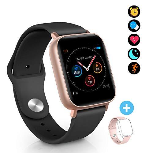 Orologio intelligente Fitness Tracker, Bluetooth Smartwatch Impermeabile con Cardiofrequenzimetro...