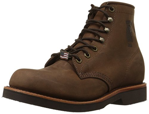 Chippewa Men's 20065 6' Rugged Handcrafted Lace-Up Boot,Chocolate Apache,8 D US