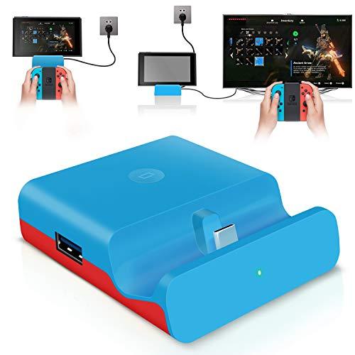 【ミニ小型・PD対応】最新Switchドック 充電スタンド (HDMI変換/TVモード/テーブルモード)最新 任天堂ス...