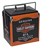 Harley-Davidson Oil Can Retro Metal Cooler - 13 Liter, Black & Orange HDX-98510