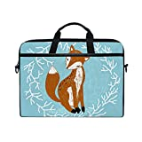 Hunihuni Forest Animal Fox - Maletín para portátil (Correa con asa), diseño de Zorro