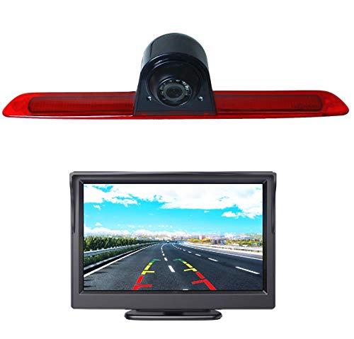 Telecamera di retromarcia HD 700TV Line 3a luce di freno, telecamera di retromarcia, telecamera di retromarcia, con monitor da 5,0 pollici per Ford Transit 8 (V363) F150/F250/F350 2014-2019