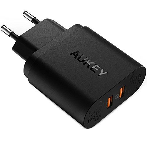 AUKEY Quick Charge 3.0 Caricabatterie USB da Muro...
