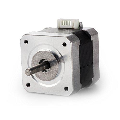 Motore passo-passo Nema 17 con coppia elevata per stampante 3D fai da te o kit CNC Filo da 40 cm (con guaina isolante), uno collega la macchina elettrica, l'altra estremità ha porte opzionali di varietà. Guaina termorestringente per evitare che il fi...