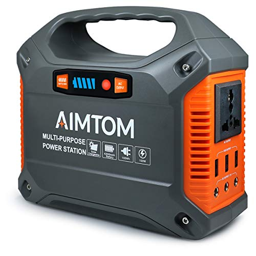 AIMTOM 42000mAh 155Wh Power Station, Emergency Backup Power...