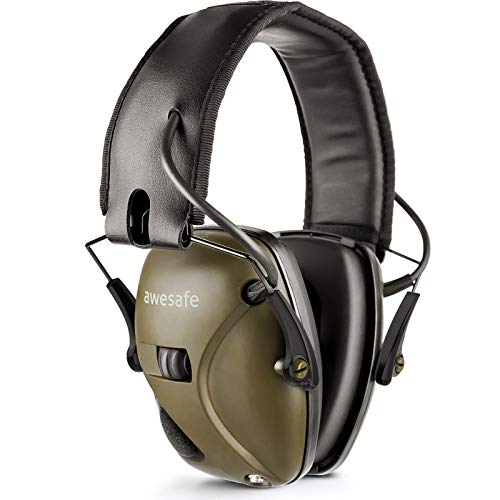 Casque de tir antibruit électronique awesafe GF01 Réduction du Bruit Maximisation du Son Sécurité Electronique Casque antibruit, Protection...