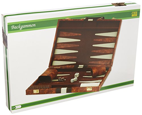 CHH 18' Brown and White Backgammon Set