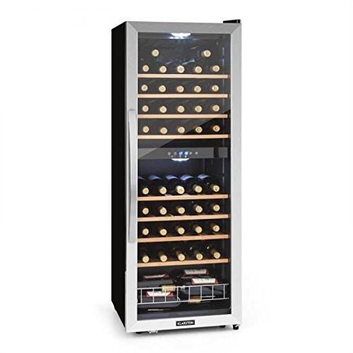 KLARSTEIN Vinamour 54D - DK2, Cantinetta Vini, Frigofero Vini, Classe B, Due Zone Raffreddamento, 54 Bottiglie, 8...