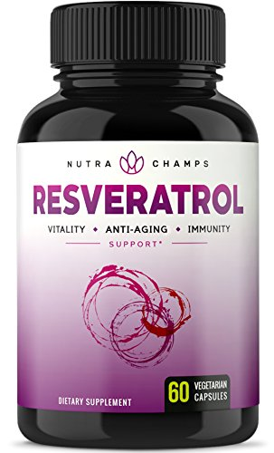 Resveratrol Supplement - Extra Strength 1400mg Formula for Healthy Aging, Immune Support & Heart Health - 60 Vegan Capsules with Trans-Resveratrol, Green Tea Leaf, Acai Berry & Grape Seed Extract 1