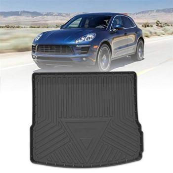 Custom Fit Rubber Boot Liner Protector Mat For Porsche Macan 2015-2020 Car Boot Mats Black