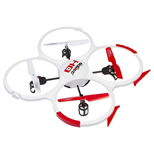 UDI U818A HD 2.4GHz 4 CH 6 Axis Gyro RC Quadcopter 818A with Camera White with 2 Batteries & Parts Set
