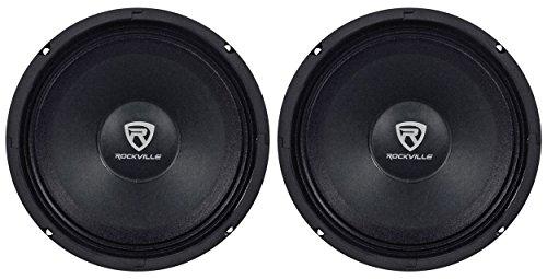 (2) Rockville RM84PRO 8' 4 Ohm 600 Watt SPL Midrange Min-Bass Car Speakers